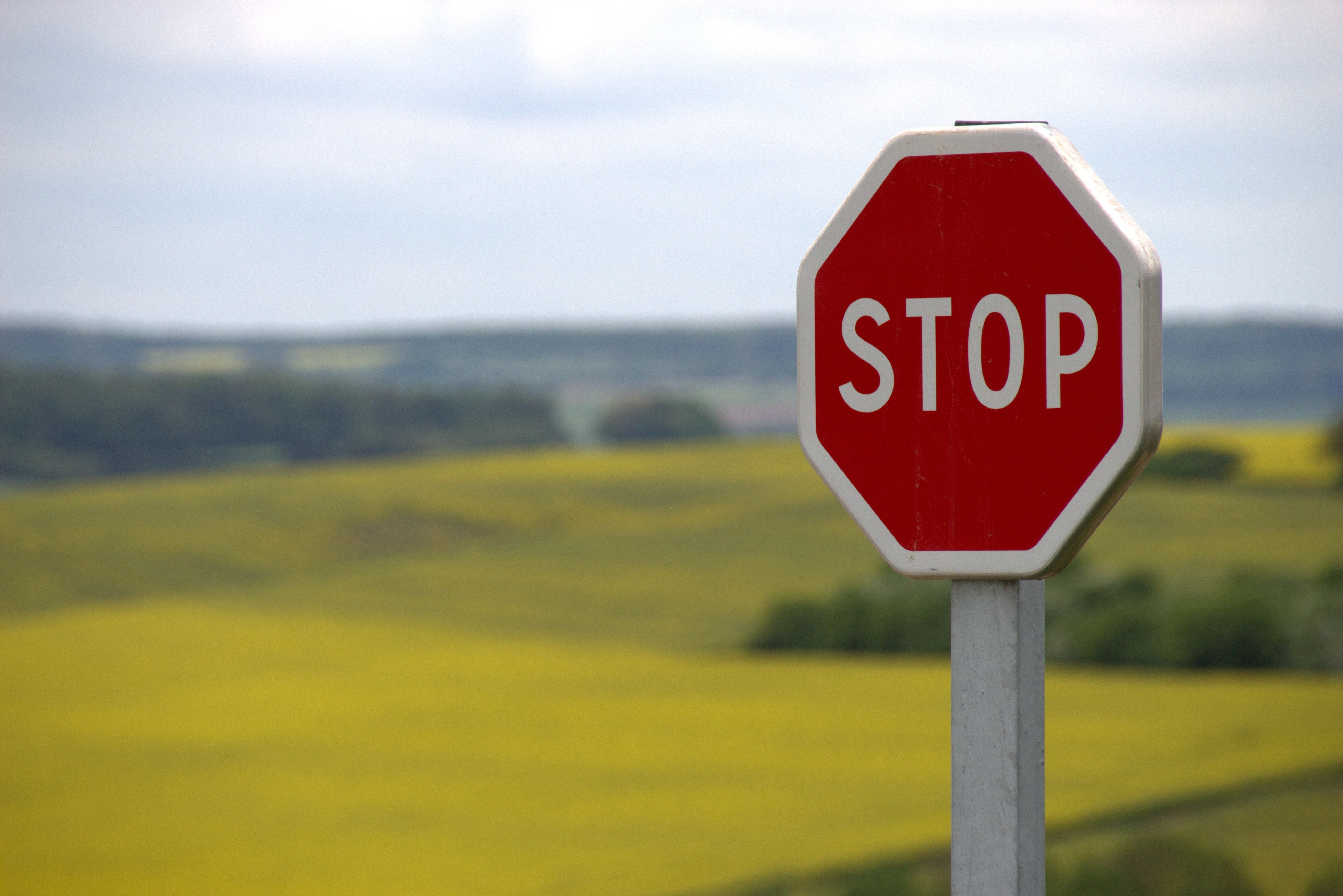road signs, slow down